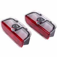 Wholesale 2pcs Car LED Door Warning Light welcome Logo Projector For VW Passat B6 B7 CC Golf Jetta MK5 MK6 Tiguan Scirocco With Harness