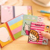 Wholesale Cute sets Cartoon Sticky Notes Post It Memo Pad School Supplies Office Planner Stickers Paper Bookmarks Papelaria