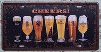 Wholesale 15x30cm Cocktail Vintage Metal Tin Sign CHEERS Decor Pub Bar Shop Wall Retro Art Poster Man Cave x30cm