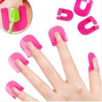Wholesale 26Pcs Chic Nail Art Polish Tip Kits Nail Polish Manicure Protection Accessory S R571