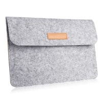 Wholesale 12 Inch Wool Felt Notebook Laptop Sleeve Bag For Macbook Pro Retina For Macbook Air Carrying Case Cover
