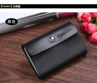 beautiful business card - Men s Women s Genuine Leather Credit Card Holder Business Cards Package Fashion Brand New Beautiful HuiLin KY61