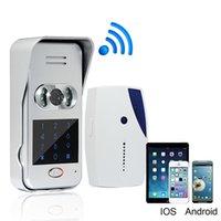 Wholesale Wireless Wifi IP Remote Video Unlock Camera Phone Intercom Video Doorbell IR Night Vision New Doorbell F1695D