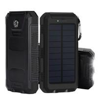 Wholesale 8000mAh Solar Panel Power Bank with Flashlight Dual USB Port Waterproof Shockproof mAh Portable Solar powerbank Battery Pack Charger