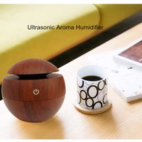 aroma diffusers - Wooden Grain USB LED Light Ultrasonic Cool Mist Aromas Humidifier Air Diffusers Fragrances For Office Home Car Usdd