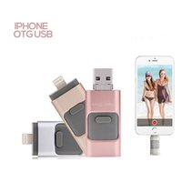 Wholesale Free DHL For iPhone s Plus S ipad GB Pen drive HD memory Micro Dual mobile OTG USB Flash Drive