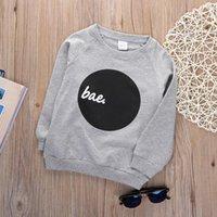 Wholesale 2016 pieces Fall Baby Boy Casual Pullover Tops Long Sleeve Crewneck Sweatshirt Coat Y