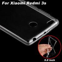 al por mayor caso trasero xiaomi-Cubierta del caso de Xiaomi Redmi 3s Caja transparente del teléfono de la cubierta suave de TPU para el caso de la contraportada de Xiaomi Redmi 3s (5.0 pulgadas)