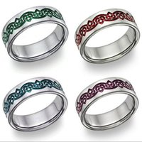 Wholesale Universal alloy wedding ring four colors new fashion jewelry for men and women anti allergy does not fade hot