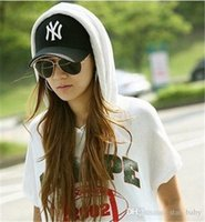 Wholesale 2016 cheap Baseball Cap NY Embroidery Letter Sun Hats Adjustable Snapback Hip Hop Dance Hat Summer Outdoor Men Women White Black Visor