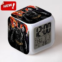 backlight movie - Batman New movie picture digital alarm Clock Thermometer Date Time Night Light