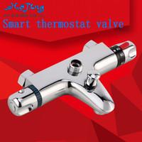 bathroom suites sale - 2015 Sale Limited Chrome Polished Shower Mixer All Copper For Thermostatic Bath Shower Faucet Bathroom Suite Valve Core Triple