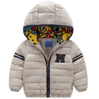 Wholesale 2016 Winter Kids Cotton Down Coat Jackets Coats Girls Parkas Hooded Baby Girl Warm Outerwear Cartoon Children s Jacket Kids Clothing