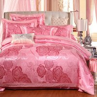 Wholesale Ruby Heart cotton satin jacquard cotton quilt embroidered linens Continental gifted Kasi sheet