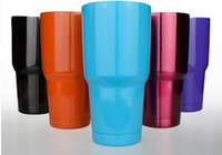 aluminum mugs - NEW Bilayer Stainless Steel Insulation Cup OZ YETI Cups Cars Beer Mug Large Capacity Mug Tumblerful