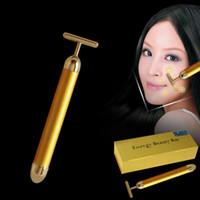bar massage - 2016 Beauty Bar Energy Beauty Bar K Gold Pulse Firming Massager Facial Roller Massage Facial Body Massage Relaxation With Boxes