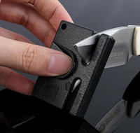 Wholesale Mini Portable pocket Sharpener alloy ceramic dual purpose Sharpening knife stone whetstone outdoor Kitchen hand tools from Lomefo