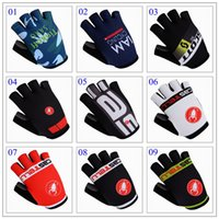 Wholesale 2016 Cycling Gloves Castelli Tinkoff IAM Half Finger Gloves MTB Road Bike Glove Size M L XL Colors For Choice