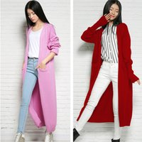 autumn threads - Long Threaded Sleeve With Pocket Cashmere Lengthen Cardigan For Ladies Spring Autumn Knitted Outwear Fashion Sweater Cardigan BF038
