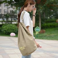 backpack discount - New European and American Style Fashion Lady Canvas Shoulder Bag Large Capacity Bag Man Bag Colors Shipped a Large Discount