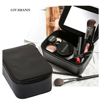 beauty jewelry storage - Women brand beauty cosmetic jewelry container luxury makeup organizer bag storage box professional toiletry tool with mirror