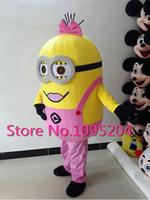 haute qualité Despicable me costume de mascotte minion pour adultes Minion mascotte costume EPE matériel installer LED fans tenir au frais et breathabl