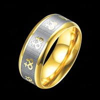 atmospheric mix - Europe and the United States fashion ring jewelry men s vacuum plating stainless steel ring atmospheric simple ring