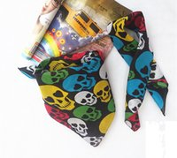 Wholesale 5pcs Fashion Accessories cotton bandana headband in in colorful skull Scarves for Adults