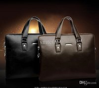 leather canvas laptop bag - fashion luxury Men s business bag inch laptop bag travel Briefcase men Cowhide header layer of leather real leather handbag