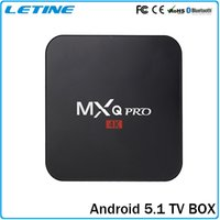Wholesale Cheapest Android TV Box MXQ PRO K Quad Core Android TV BOX Amlogic S905 With KODI Fully Loaded Update TV Box Free Shipping