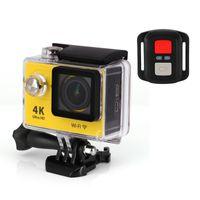 Wholesale Action camera EKEN H9R Ultra HD K WiFi P fps LCD D lens Helmet Cam underwater waterproof camera with Remote control camera
