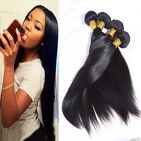 Wholesale 7A unprocessed malaysian virgin hair straight human hair weaves bundles g remy hair products no shedding