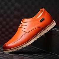 Wholesale Elegant Stylish Quality Leather Slim Dress Shoes Italian Mens Vintage Martin Oxfords Casual Business Shoes