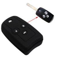 accord carbon fiber - SUNCOOL New Silicone Car Key Cover case for Honda Accord CRV CIVI Crosstour Buttons Folding Car key