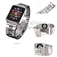 Cheap Retail Stainless Steel Watch Band For Apple Watch Band 38mm 42mm Wrist Watch Bracelet Buckle Clasp Metal Watch Strap For Apple Iwatch Band