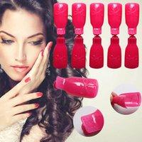 Wholesale 10pcs Nail Art Soak Off Clip Cap UV Gel Polish Remover Wrap Manicure Tool New