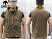 Wholesale Corn Fleece Vest Thicken Thermal Breathable Hunting Emerson Brand New Clothing Army Tactical Vests Coyote Brown