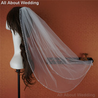 beaded hair styles - Sequin Beaded Bridal Wedding Veil Hair Accessory Bridal Cover One Layer New Style Real Photo Epacket