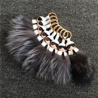 Wholesale 2016 hot fox Fur Ball Monster bag keychain Paste for phone case iphone s shoes bags fur cap accessories