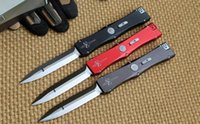 Wholesale 2016 newest Marfione Microtech Nemesis Elmax blade material aluminum handle camping hunting knife survival tool EDC
