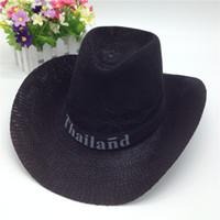 Wholesale Summer Western popular brand Soft Straw cowboy hats for men chapeau cowboy straw cowboy hat