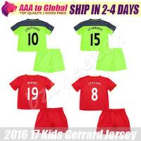best stops - Kids Coutinho jersey Child Mane Lucas Gerrard green Soocer Jersey best quality kids young soccer shirt