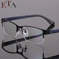 Wholesale Men s lightweight fashion glasses frame myopia frame metal half frame glasses frame optical prescription eyeglasses