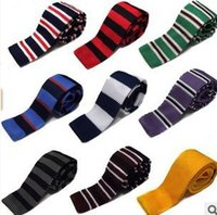 Wholesale 2016 New Men s Wool knitted Tie wedding leisure Business Korean flat tie have nine colors can choose A generation of fat