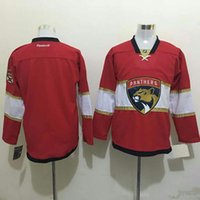 Wholesale Blank Red Newest Men Florida Panthers Red Ice Hockey NHL Stitched Jerseys Free Drop Shipping lymmia Mix Order