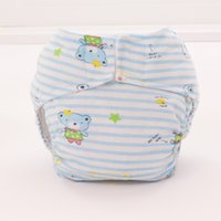 Wholesale Waterproof Breathable Baby Cartoon Printed Diaper Covers Leakageproof Pure Cotton Fashion pink yellow and blue color