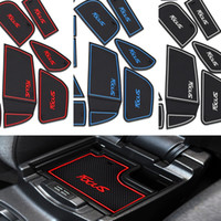 Wholesale 17Pcs set mat door mat Cup pad new focus Gate slot pad Latex Anti non slip for Ford focus