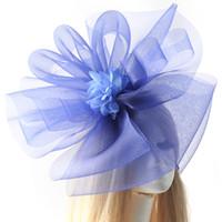 Fille accessoires pour cheveux clips France-9 couleurs pour choisir Lady Girl Fashion Girl Femme Grand Fascinator Veil Net chapeau Flower Hair Clip Fancy Dress Accessoire Mariage Races