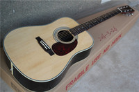 Wholesale The Lowest Price Inch Folk D Acoustic Guitar with Mahogany Neck Chrome Hardware Can be Changed