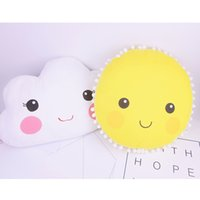 Wholesale Cartoon Smiley Face Sun Clouds Pattern Cushion New Baby Pillow Toys Sleeping Dolls Kids Room Bed Sofa Decoration Children s Gifts